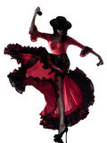 flamenco χορευτών χορεύοντας γυναίκα τσιγγάνων Στοκ εικόνα με δικαίωμα ελεύθερης χρήσης