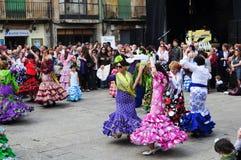 Flamenco χορεύοντας οδός παράδοσης festivale Στοκ φωτογραφία με δικαίωμα ελεύθερης χρήσης