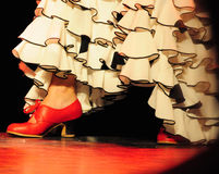 flamenco χορού Στοκ φωτογραφία με δικαίωμα ελεύθερης χρήσης