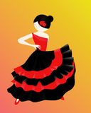 Flamenco. There is a girl dancing flamenco stock illustration