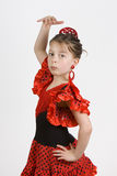 flamenco κορίτσι Στοκ Εικόνα