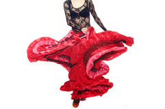 Flamenco. Body part of the dancer dancing flamenco in traditional costume Stock Photo