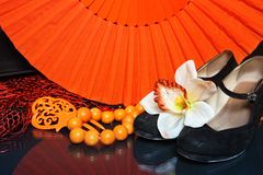 Flamenco accessories Stock Images