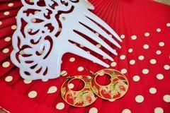 Flamenco accessories Stock Photography