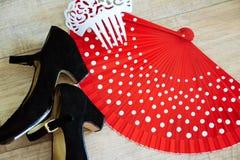 Flamenco accessories Stock Photos