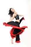 Flamenco atractivo joven del baile de la mujer Imagenes de archivo