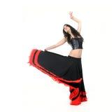 Flamenco atractivo joven del baile de la mujer Fotografía de archivo libre de regalías