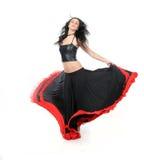 Flamenco atractivo joven del baile de la mujer Fotos de archivo
