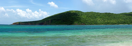 Flamenco Beach Culebra Panorama Royalty Free Stock Images
