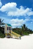 Flamenco Beach Lifeguard Tower Stock Photo