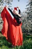 Flamenco blondynów dziewczyna Fotografia Royalty Free