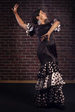 Flamenco bonito da dança da menina Fotos de Stock Royalty Free
