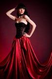Flamenco Carmen beautiful woman in dress Royalty Free Stock Photos