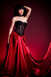 Flamenco Carmen beautiful woman in dress Royalty Free Stock Photos