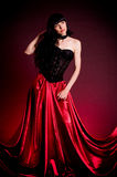 Flamenco Carmen beautiful woman in dress Royalty Free Stock Images