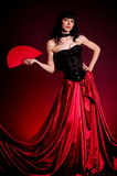Flamenco Carmen beautiful woman in dress Royalty Free Stock Photo