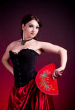 Flamenco Carmen beautiful woman in dress Stock Photos
