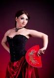 Flamenco Carmen beautiful woman in dress Stock Photos
