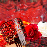 Flamenco comb fan and roses typical from Spain Espana Stock Images