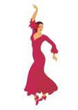 Flamenco da dança do espanhol Fotos de Stock