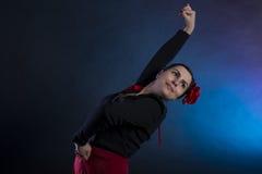 Flamenco dance. Young girl is dancing flamenco Royalty Free Stock Photo