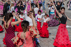 Flamenco Dancers Fiesta in Spain Stock Images