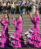 Women Dancing at Flamenco Fiesta in Spain Royalty Free Stock Photo