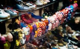 Flamenco dance shoes. Colorful Flamenco dance shoes.  Spanish culture Stock Photos