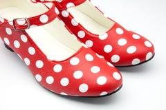 Flamenco dance shoes Stock Images
