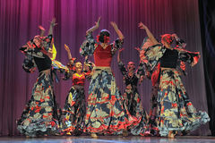 Flamenco dance Stock Images
