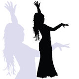 Flamenco dance woman art silhouette Royalty Free Stock Image