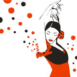 Flamenco dancer. Royalty Free Stock Image
