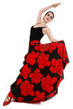 Flamenco dancer. Attractive woman dancging flamenco, over white background Royalty Free Stock Photo