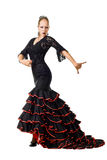 Flamenco dancer in action Stock Photos