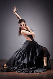 Flamenco dancer in beautiful dress Royalty Free Stock Photography