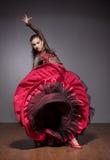 Flamenco dancer in beautiful dress Royalty Free Stock Images