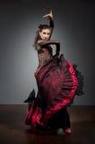 Flamenco dancer in beautiful dress Royalty Free Stock Photo