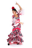Flamenco dancer in beautiful dress Royalty Free Stock Photos
