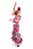 Flamenco dancer in beautiful dress Stock Images