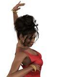 Flamenco Dancer in Closeup Stock Photos
