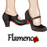 Flamenco dancer feet  - hand drawn illustration Royalty Free Stock Photography