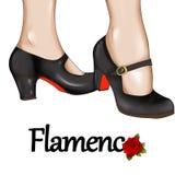 Flamenco dancer feet  - hand drawn illustration Royalty Free Stock Photography