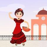 Flamenco dancer girl Royalty Free Stock Photography