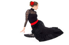 Flamenco dancer girl sitting Stock Photography