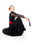 Flamenco dancer girl sitting Stock Image