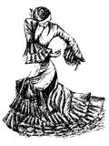 Flamenco dancer Royalty Free Stock Image