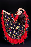 Flamenco dancer in motion Royalty Free Stock Images