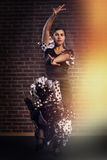Flamenco dancer in motion Royalty Free Stock Image