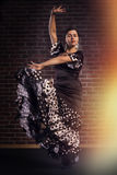 Flamenco dancer in motion Royalty Free Stock Photo