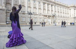 Flamenco dancer performing at Royal Palace, Madrid, Spain Stock Photos